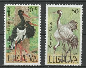 Lithuania 1991 Birds 2 MNH stamps