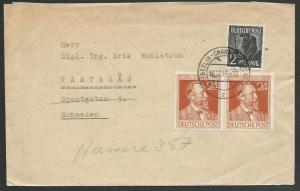 GERMANY 1947 cover Berlin to Sweden........................................59022