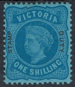 VICTORIA 1885 QV OVERPRINTED STAMP DUTY 1/-