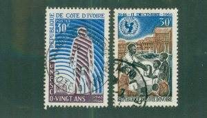 Ivory Coast 249-50 USED BIN$ 2.00