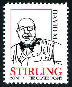 David M. Stirling Commemorative Stamp - MNH - Cinderella