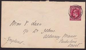 SIERRA LEONE 1902 EVII 1d envelope commercially used to UK ex Freetown.....7602