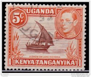 Kenya, Uganda & Tanganyika 1938-49, KGVI Definitive, 5c, sc#48, used