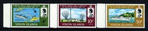 VIRGIN ISLANDS QE II 1967 Bermuda-Tortola Telephone Set SG 217 to SG 219 MNH