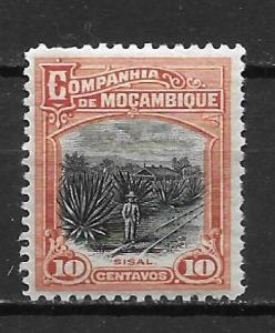 Mozambique Company 126 10c Sisal Plantation single MH