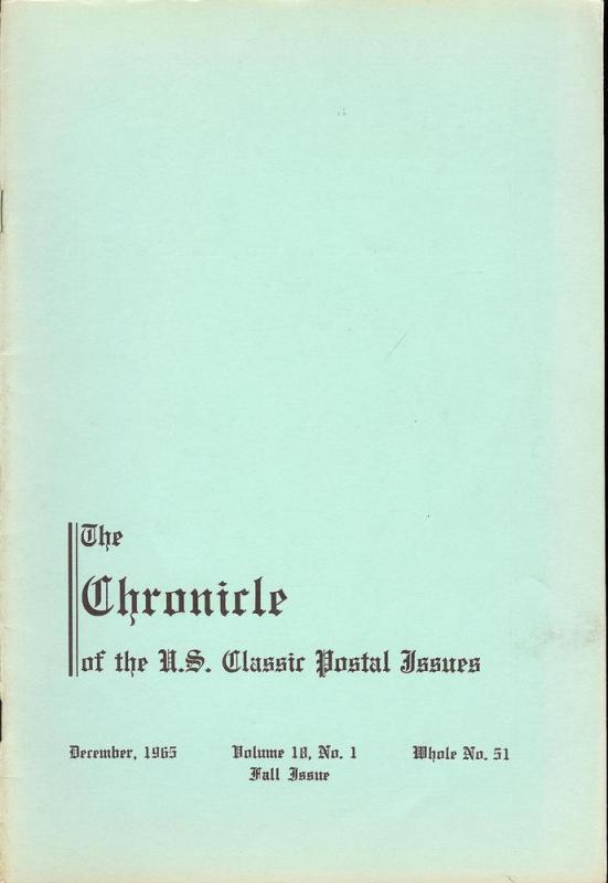 The Chronicle of the U.S. Classic Issues, Chronicle No. 51