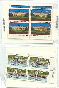Canada USC #967-968 Mint MS of each as Imprint Blocka - VF-NH Face $9.60