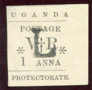 Uganda 1896 QV 1a black MH. SG 70. Sc 54.
