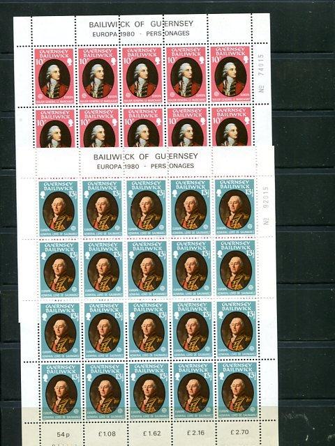 Guernsey,  Europa  1980  Mint VF NH - Lakeshore Philatelics