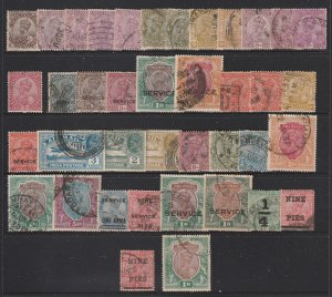 India a small lot of used KGV
