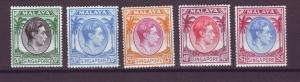 J21352 Jlstamps 1949-52 various singapore mh #12a-up king perf 18