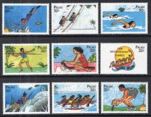 Palau 465a-465i Singles MNH VF