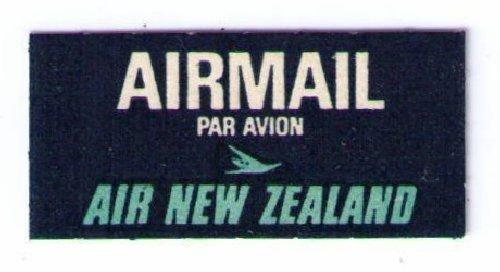 AIR NEW ZEALAND - RARE VINTAGE 1966 AIR MAIL LABEL CAT #NZL-B-8, CINDERELLA