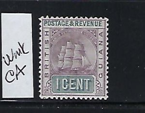 BRITISH GUIANA SCOTT #130 1889-1903 SHIP TYPE 1C (LILAC/GRAY) WMK 2- MINT LH