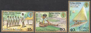 Gilbert Islands 1977 50th Anniv. of Scouting in Gilbert Islands (part set) MNH