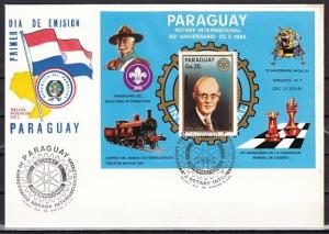 Paraguay, Scott cat. C594. Rotary International s/sht. Scouts, First day cover.^