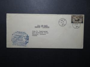 Canada 1932 Siscoe to Pascalis First Flight Cover - Z11272