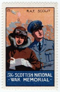 (I.B) Cinderella Collection : The Scottish War Memorial (RAF Scout)