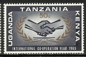 Kenya, Uganda & Tanzania 1965 Scott# 157 MH