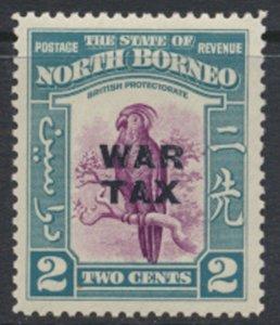 North Borneo  SG 319 SC# MR2 MVLH  OPT War Tax  See scans