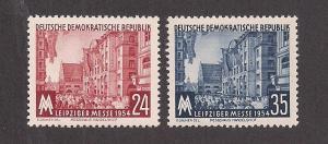 GERMANY - DDR SC# 214-15 VF MNH 1954