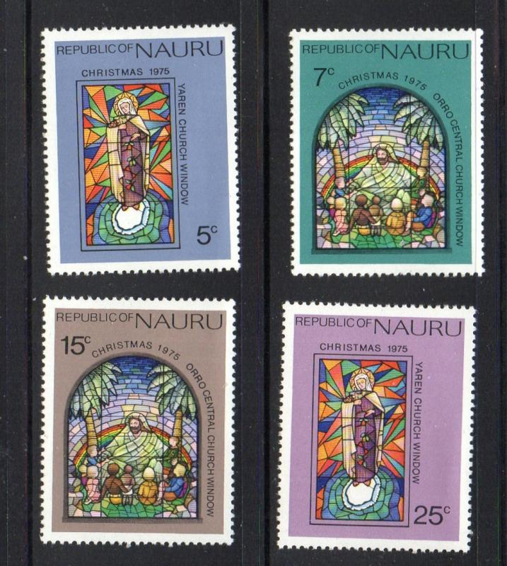 Nauru Sc 130-3 1975 Christmas stamp set mint NH