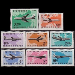 HUNGARY 1977 - Scott# C377-84 Planes Set of 8 NH