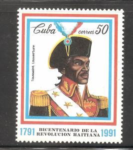 Cuba  (1991)  - Scott # 3377,  MNH    Historical Figure