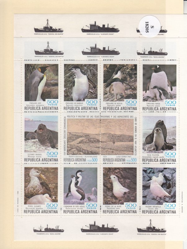 Argentina: 75th Anniv. Presents South Orkneys, Sc #1279-1280, S/S, MNH (S18205)