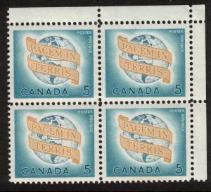 Canada - World Peace 1964 - Mint Block NH SC416