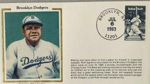 Colorano Silk 2046 Baseball Coach Babe Ruth Brooklyn NY 11201 Hand Cancel