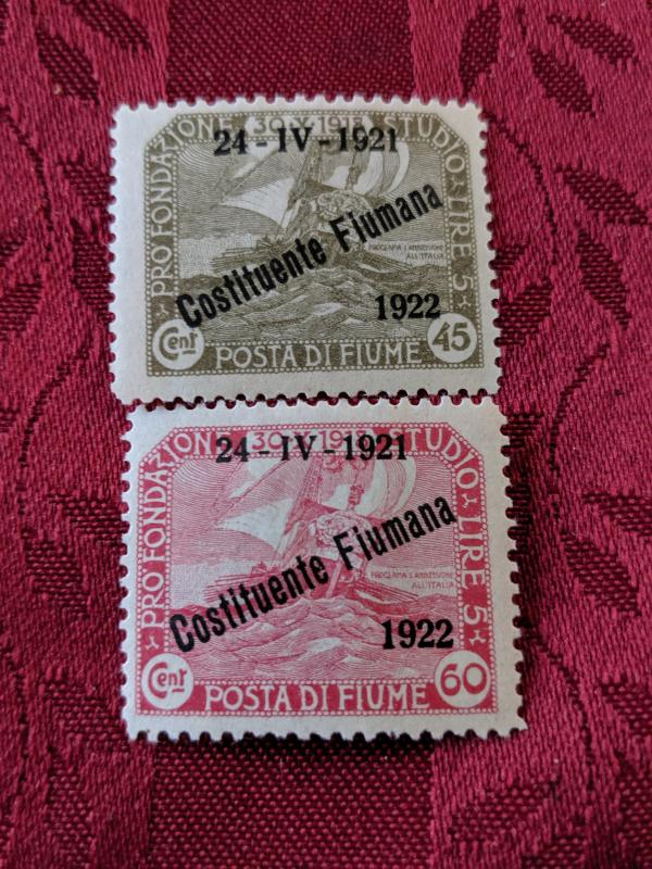 Fiume 165-6 VFMH, CV $15