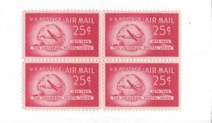 United States, C44, Stratocruiser & Globe Block(4), MNH