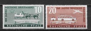 Germany Rhein-Palatinate 6N39-40 100th Stamps Set MNH (z1)