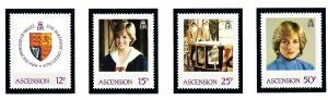 Ascension 313-16 MNH 1982 Princess Diana