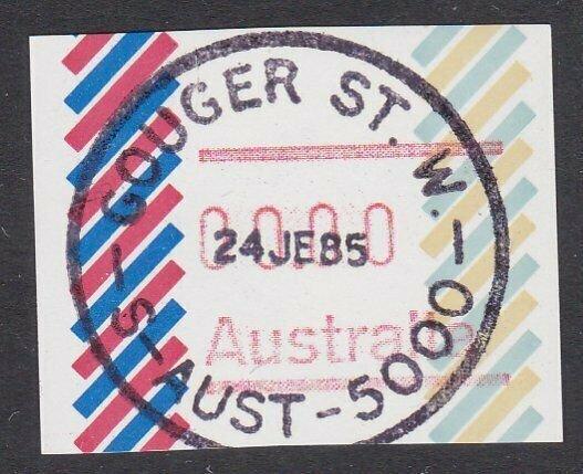 AUSTRALIA 1985 ZERO Frama - no postcode - used Gouger St SA.................Q665