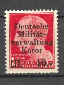 German Occupation 1944 Kotor,   Mi. 6 X , MLH, no faults