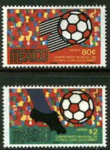 MEXICO C350-C351, World Soccer Championship. MINT, NH. VF.