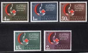 MALDIVE ISLANDS SCOTT 124-128