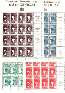 Lithuania  375 - 378 MNH $ 25.00 full sheets all 4 aaaa