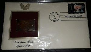 2002 FDI American Spotted Bats 22K Gold Replica Catalog # 3664