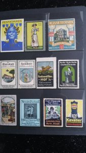World Exhibition, Convention, Stamp Show, Poster, Label stamp Collection LOT #Q5