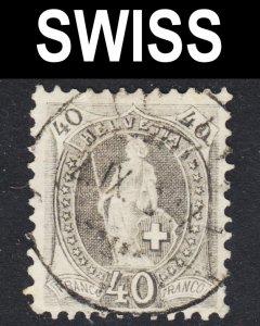Switzerland Scott 84  F to VF used.