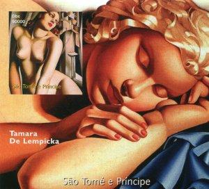 Sao Tome & Principe 2005 TAMARA DE LEMPICKA Paintings s/s Imperforated Mint (NH)