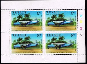 UK STAMP TUVALU WRIGHT BROTHERS MNH S/S STAMPS LOT #4