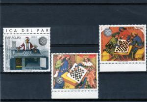 Paraguay 1985 Sc#C617/C619 World Chess Congress Austria Set (3) MNH VF
