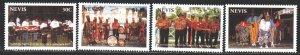 Nevis. 1999. 1430-33. Festival, musicians, drums. MNH.