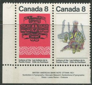 STAMP STATION PERTH Canada #572-573 Indiand1974 MNH Pair CV$0.60