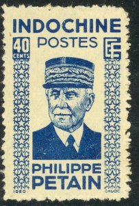 INDO-CHINA 1942-44 40c MARSHAL PETAIN Portrait Issue Sc 221 MNGAI