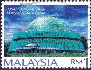 MALAYSIA 1994 $1 Multicoloured National Planetarium Kuala Lumpur SG526 Used